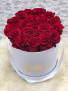 White Round Box- Eternal Roses  Roses Last Up To 365 Days