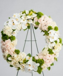 White Serenity Standing Wreath Standing Wreath