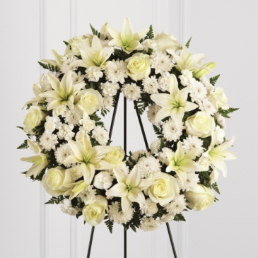 White Serenity Wreath