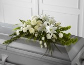 White Simplicity Casket spray
