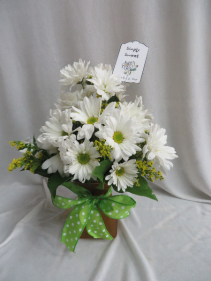 White Simply Sweet  Fresh Vased Arrangement