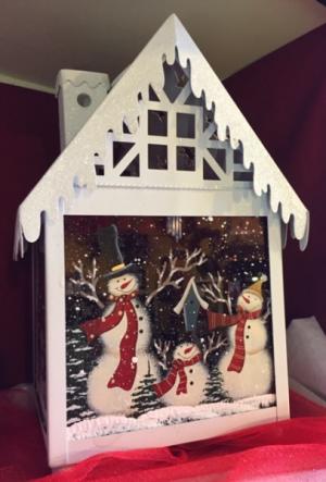 White Snow Roof Lantern   in Fowlerville, MI | ALETA'S FLOWER SHOP
