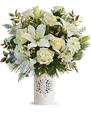 White Snowflake Bouquet Winter / All Occasions in Las Vegas, NV | All In Bloom