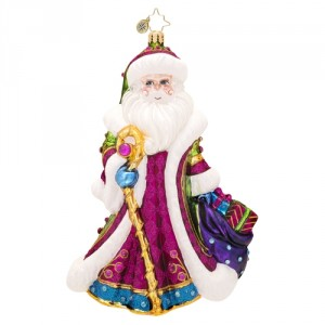 White Sparkle Santa (RETIRED) Christopher Radko Ornament
