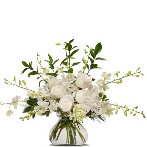 White Splendor Arrangement in Fort Smith, AR   EXPRESSIONS FLOWERS, LLC