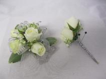 White Spray Rose Corsage Prom