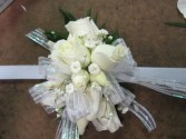 White Spray Roses Wrist Corsage