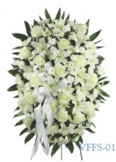 White Standing Spray Funeral Spray