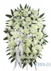 White Standing Spray Funeral Spray