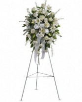 White Standing Spray Funeral Standing spray