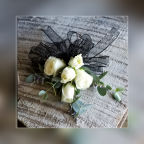 White Sweetheart Rose Corsage Wrist Corsage