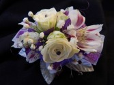 White Sweetheart Roses with Alstromeria Corsage