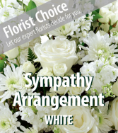 White Sympathy Arrangement Custom White Sympathy Arrangement