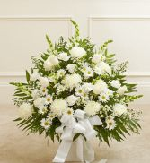 White Sympathy Floor Arrangement