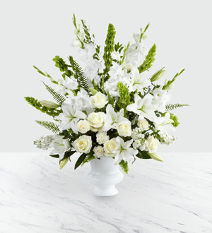 White Sympathy Funeral Flowers