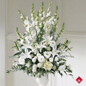 white Symphony Funeral Flowers