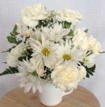 White Teacup Flower Arrangement