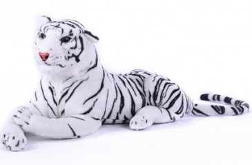 White Tiger Plush 48""