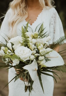 White Tropical Bridal Bouquet