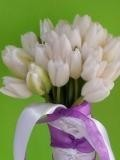White Tulip Bouquet Bridal Bouquet