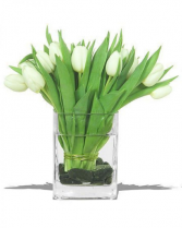 White Tulips Arrangement
