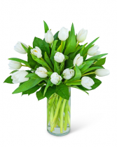 White Tulips Flower Arrangement
