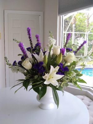 White Urn Lily  in Delray Beach, FL   Greensical Flowers Gifts & Decor