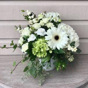 White Vase Arrangement in Surrey, BC | Hunters Garden Centre And Flower Shop