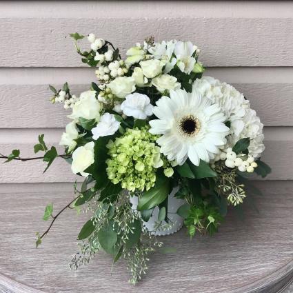 White Vase Arrangement