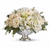 White Velvet Centerpiece