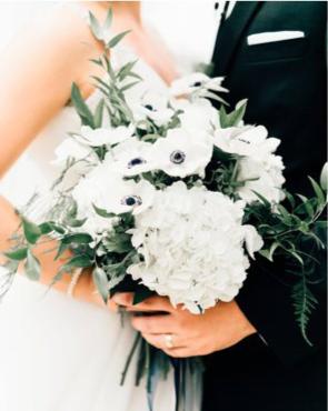 White Wedding Bridal Bouquet