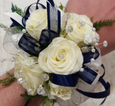 White Whisper Rose Wrist Corsage