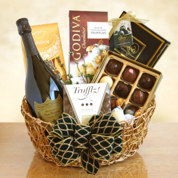White Wine & Chocolate Gift Basket  Wine & Chocolates