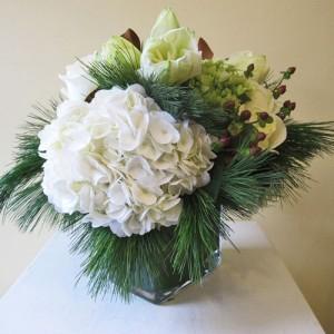 White Winter Vased Arrangement