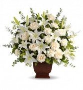 WHITE WISDOM FUNERAL ARRANGEMENT