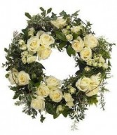 WHITE WISDOM SYMPATHY WREATH