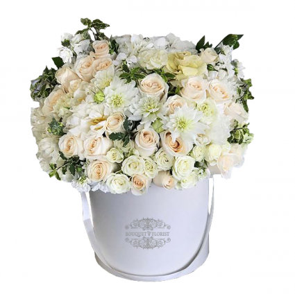 White Wishes Flower Box