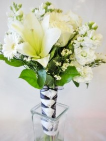 White with Lily Bouquet
