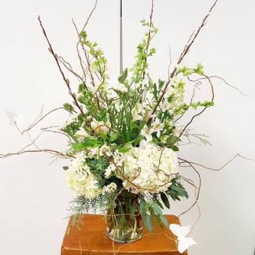 White Wonder Vase Arrangement