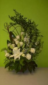 White Woodland Garden Sympanthy Flowers Sympathy Arrangements