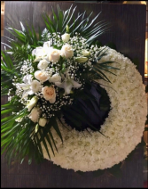 White Wreath Funeral Wreath