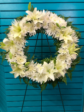 White Wreath standing spray