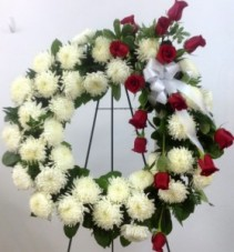 White Wreath Standing Wreath