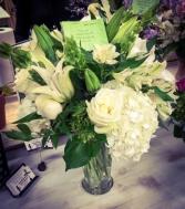 Whites and Greens Vase Arrangement
