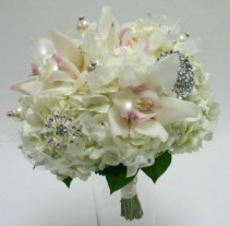 whites orchids wedding