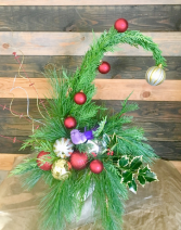 Grinch Tree arrangement Fresh floral arrangement