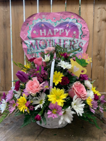 Wicker Basket for Mom Mother's Day