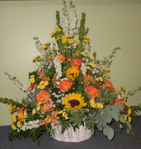 Wicker Basket  funeral in Ware, MA | OTTO FLORIST & GIFTS