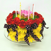 WIld and Wonderful Birthday Flower Cake