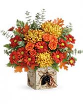 Wild Autumn Bouquet  Cube Arrangement